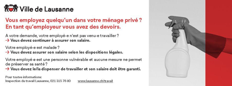 recherche emploi femme de menage en suisse)